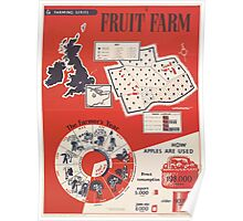 United States Department of Agriculture Poster 0181 Fruit Farm Farmer's Year Poster