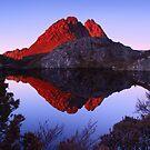 Morning Light on Little Horn - Cradle Mountain N.P. by Mark Shean