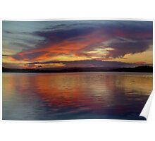 North Shore Sunset - Maroochydore Poster