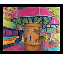 Busy Bus Stop Blues Photographic Print