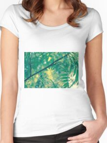 green spring tree Women's Fitted Scoop T-Shirt