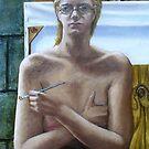Self Portrait, 2001, oil on canvas. by fiona vermeeren