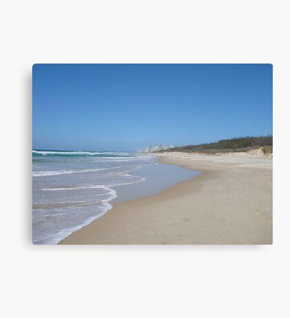 Gold Coast Beach on a Sunny Winter's Day Canvas Print