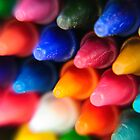 Colorful Crayons Closeup by edge2edgephoto