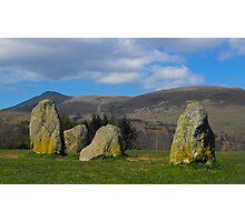 CastleRigg Stone Circle And Blencathra Photographic Print