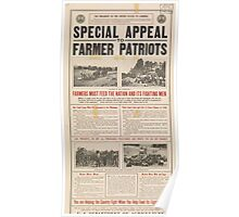United States Department of Agriculture Poster 0104 Special Appeal to Farmer Patriots Poster