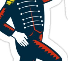 Drum Major Marching Band Leader Woodcut Sticker