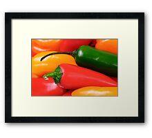 Peppers Closeup Framed Print