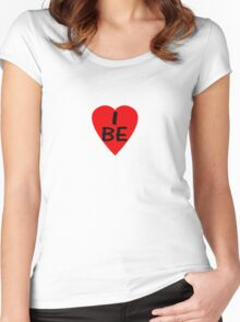 I Love Belgium - Country Code BE T-Shirt & Sticker Women's Fitted Scoop T-Shirt