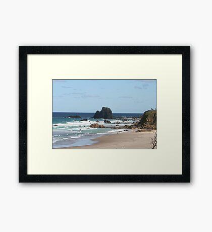 Low Tide at Narooma Surf Beach Framed Print
