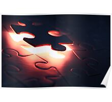 Puzzle Piece Falling Into Place Poster
