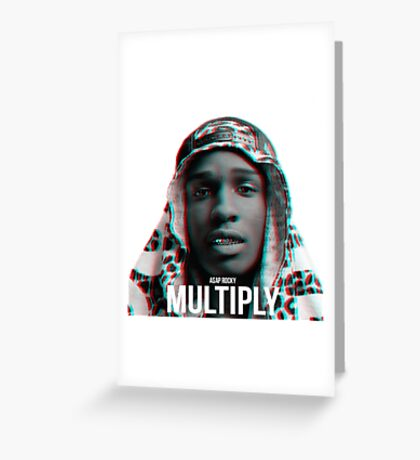 A$AP ROCKY | 2015 | MULTIPLY Greeting Card