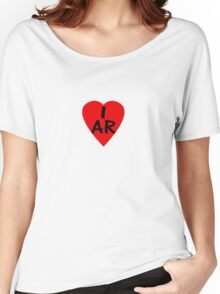 I Love Argentina - Country Code AR T-Shirt & Sticker Women's Relaxed Fit T-Shirt