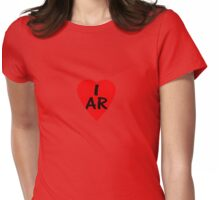 I Love Argentina - Country Code AR T-Shirt & Sticker Womens Fitted T-Shirt