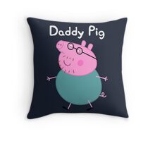 Daddy Pig Throw Pillow