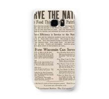 United States Department of Agriculture Poster 0286 Serve the Nation More Food This Year is Patriotism Samsung Galaxy Case/Skin