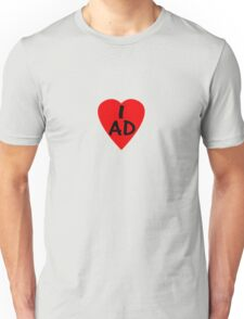 I Love Andorra - Country Code AD T-Shirt & Sticker Unisex T-Shirt