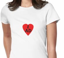 I Love Andorra - Country Code AD T-Shirt & Sticker Womens Fitted T-Shirt