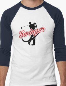 Golf: Swinger Men's Baseball ¾ T-Shirt