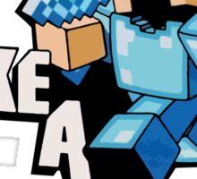 Minecraft - Like A Boss  Sticker