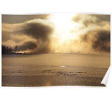 Vapors rising from a freezing river, Höga Kusten / High Coast, Sweden 3 Poster