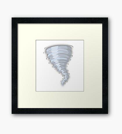 WIND SWIRL Framed Print
