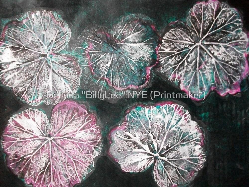 "Novembers Garden 2 - Monoprint by Belinda ""BillyLee"" NYE (Printmaker)"