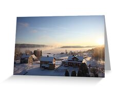 Vapors rising from a freezing river, Höga Kusten / High Coast, Sweden 4 Greeting Card