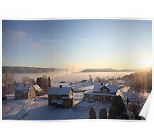 Vapors rising from a freezing river, Höga Kusten / High Coast, Sweden 4 Poster