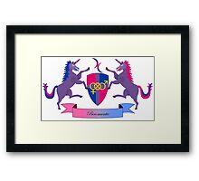 Biromantic Crest Framed Print
