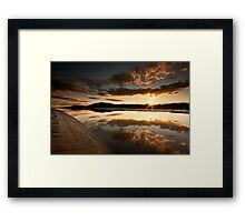 Glencaple Sunset Framed Print