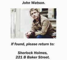 John Watson, lost by gerardxxirwin