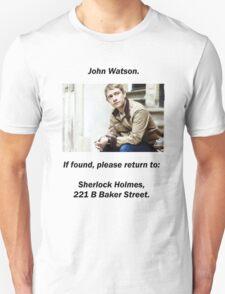 John Watson, lost T-Shirt