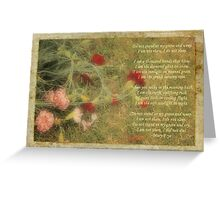 Carnations Greeting Card