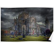 Storm over the Abbey Poster