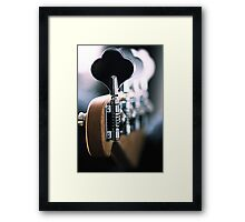 Tuning different tones Framed Print