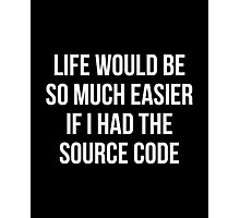 Life Source Code Photographic Print