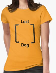Lost dog Womens Fitted T-Shirt