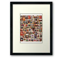 art work collage Framed Print