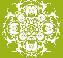 ORANGUTAN SNOWFLAKE GREEN by SHOPCOMPASSION