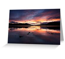 Loch Ness Sunset Greeting Card