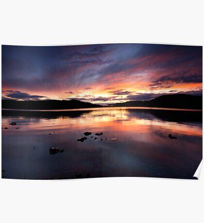 Loch Ness Sunset Poster