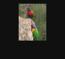 Lorikeet Greeting Card Rainbow Lory Parrot Photo Women's Fitted Scoop T-Shirt