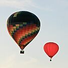 Early Evening Balloons by Robert Abraham