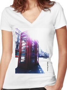 london in love telephone Women's Fitted V-Neck T-Shirt
