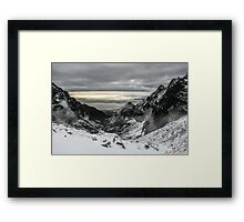 Winter in the mountains Framed Print
