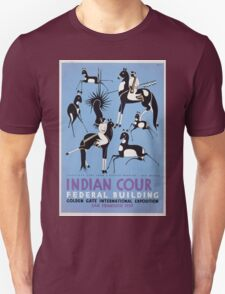 WPA United States Government Work Project Administration Poster 0410 Antelope Hunt Navajo Drawing New Mexico Indian Court Federal Building Golden Gate International Exposition T-Shirt
