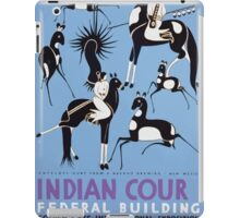 WPA United States Government Work Project Administration Poster 0410 Antelope Hunt Navajo Drawing New Mexico Indian Court Federal Building Golden Gate International Exposition iPad Case/Skin