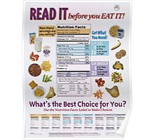 United States Department of Agriculture Poster 0287 Read it Before You Eat It Poster
