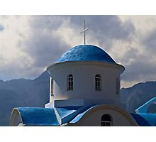 GREEK ROADSIDE CHAPEL..! Photographic Print